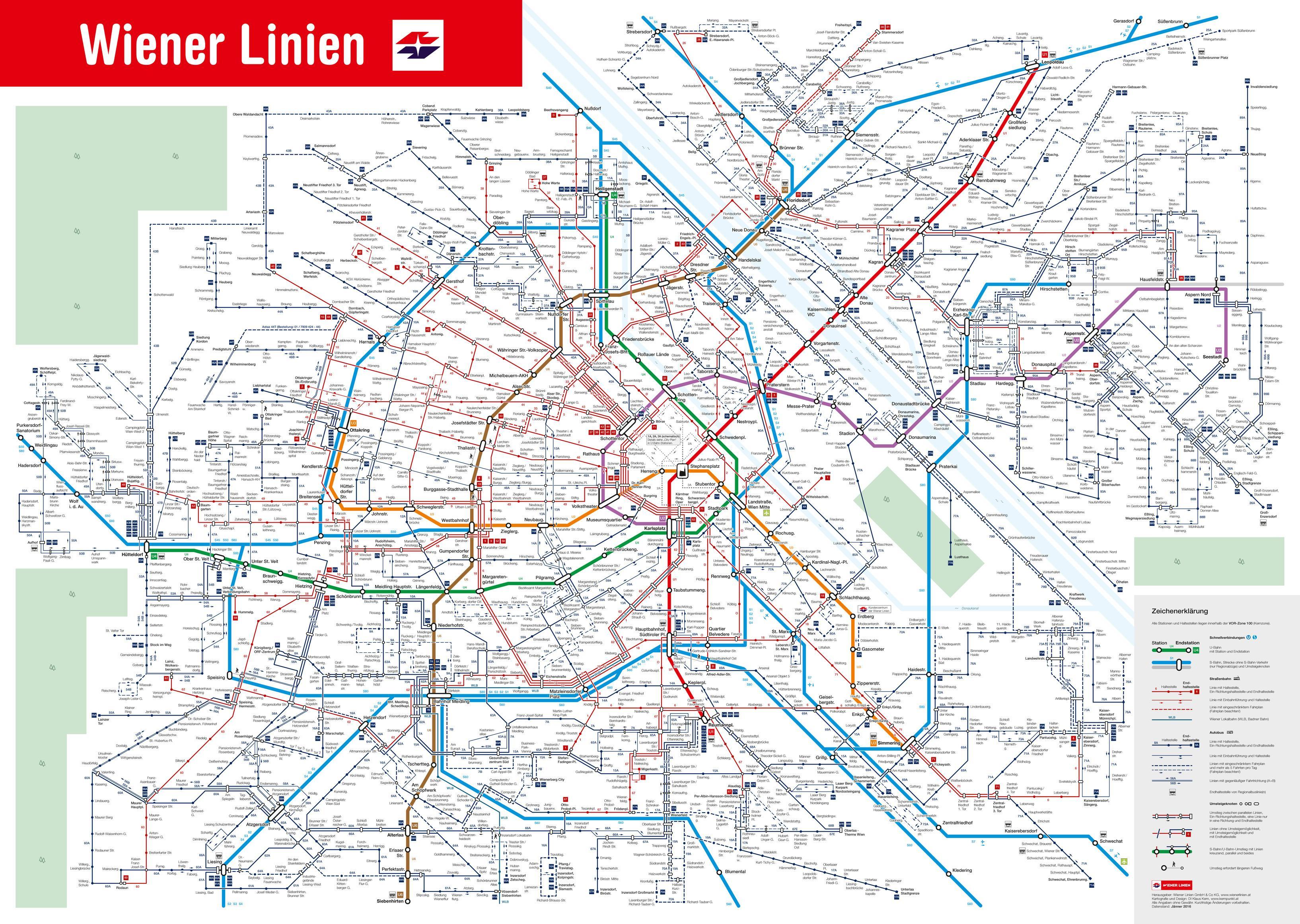 Wienin Julkinen Liikenne Kartta Kartta Wienin Julkisen